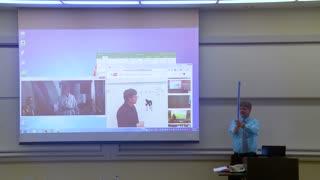 April Fools Prank - Math Professor Fixes Projector Screen