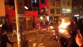 Protestas en CAI Villa Luz, Bogotá