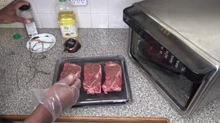 How to cook Steaks, Ninja Foodi XL Pro Air Fry Oven Recipe
