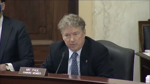 'Time to Open our Economy' Senator Rand Paul's Statement at Small Business Committee Hearing