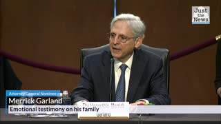 Judge Merrick Garland tells emotional testimony of his family