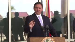 Governor Ron Desantis calls out the media
