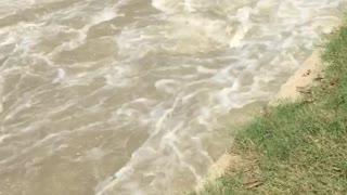 Beautiful Water Flowing Seen Captured