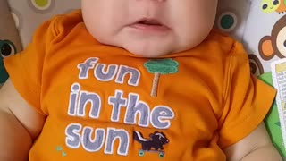 Cute Baby Cries every time it hears Daddy!