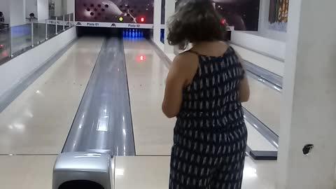 Woman Scores A 'Smashing' Strike