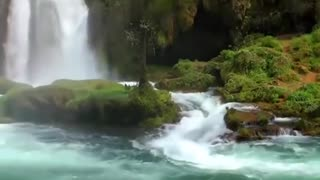 relaxing water with calming music