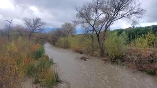 San Timoteo creek at Alessandro rd storm flow