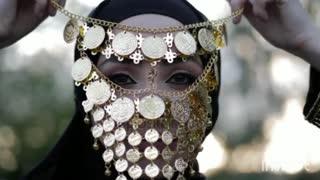 beautiful woman with her black hijab