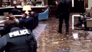 Washington DC -- Trump Hotel Opened Up for Metropolitan Police