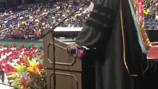 """Principal Sings Whitney Houston's """"I Will Always Love You"""" at High School Graduation Ceremony"""