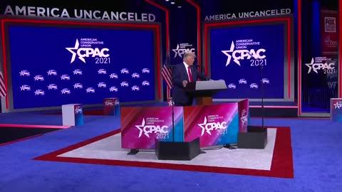 """We reject cancel culture"" President Trump #CPAC2021 #AmericaUnCanceled"