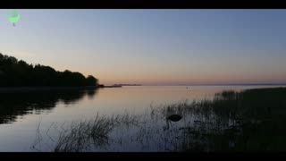 sunset on lake evening hd