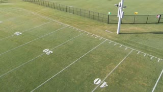 New football field aerial
