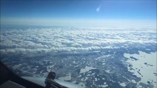 Amazing Plane Travel Time Lapse Pass Throw Time
