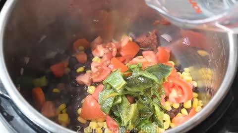 Instant Pot Black Bean and Corn Soup