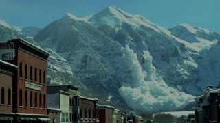 Helicopter Triggered Avalanche in Colorado Mountains