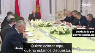 Declaraciones del presidente de Bielorrusia Aleksandr Lukashenko