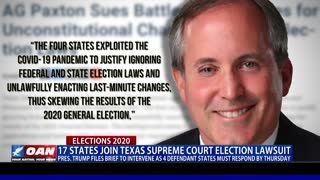 1/3 of states join Texas Supreme Court election lawsuit