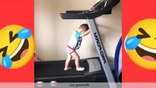 The First baby to practice aerobic
