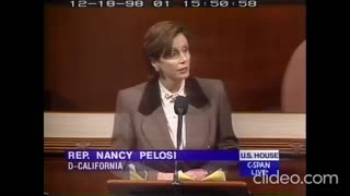 Nancy Pelosi speaks out in opposition to Clinton's impeachment