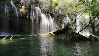 Waterfalls With Relaxing Background Music