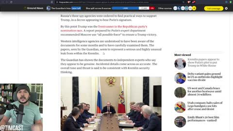 DESPERATE Far Left Just Published Unhinged And Unconfirmed Report That Russia Has Kompromat On Trump