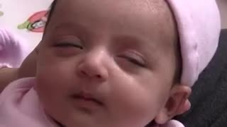 Watch this cute baby try to sleep