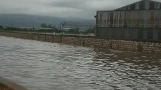 Heavy flooding after rain.
