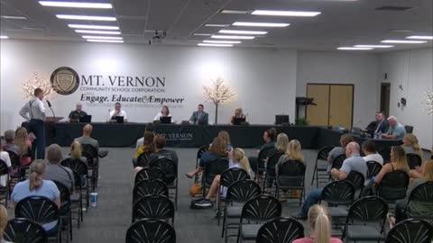 Dr. Dan Stock MD, speaks at Mt. Vernon School Board Meeting