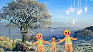 Gingerbread Family Dance in the Snow