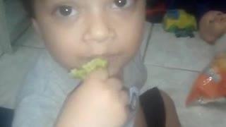 child eating Brocolis