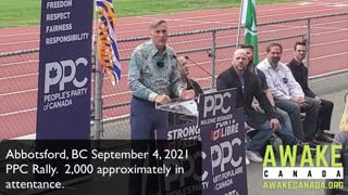PPC Campaign - Abbotsford, BC Rally September 4, 2021