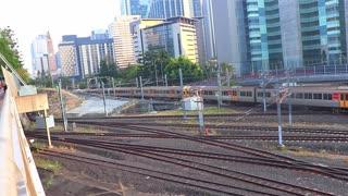 Roma Street Railway Station in Brisbane Australia