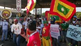 Continúan protestas