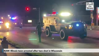 RAW: Illinois teen arrested after two shot in Wisconsin