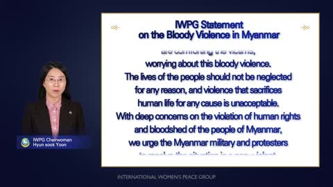 """IWPG, Announcement of Statement Calling for a """"Peaceful Solution"""" to Resolve the Myanmar crisis"""