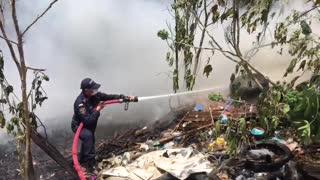 Incendió generó una emergencia en el barrio Girardot de Bucaramanga