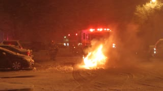 Fire Department Responds to Car Fire 1 of 3