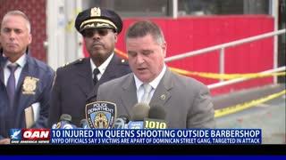 10 injured in Queens shooting outside barbershop