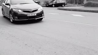 Toyota camry driving. Speed test