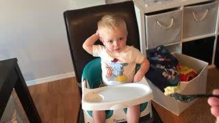 Cute baby has hilarious reaction to salad