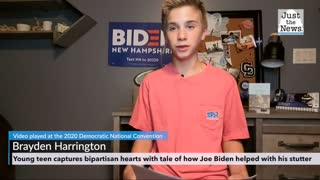 Young teen captures bipartisan hearts with tale of how Joe Biden helped with his stutter