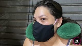La venezolana que tiene cáncer y vive en un local de Bazurto