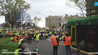 Australian construction workers PROTEST
