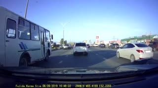 Collision Sends Car Flying into Oncoming Lane