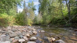 relaxing river sound from beautiful mountains of British Columbia Canada