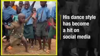 African kid dancing