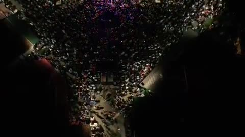 Doček Džejle Ramović u Goraždu - snimci dronom