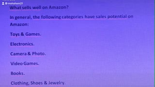 What sells well on Amazon?