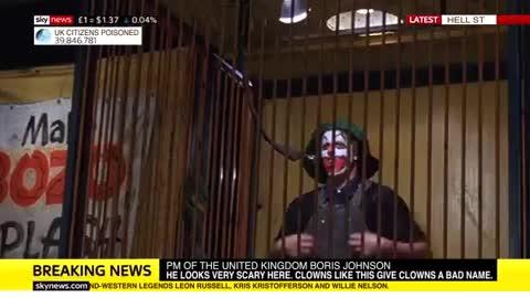 Boris Johnson, clown / prime minister